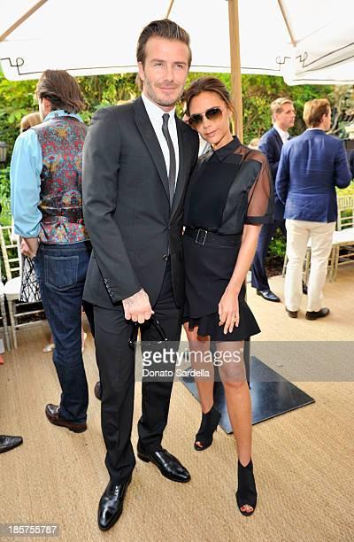 Soccer player David Beckham and fashion designer Victoria Beckham attend the 2013 CFDA/Vogue Fashion Fund Event Presented by thecorner.com and...