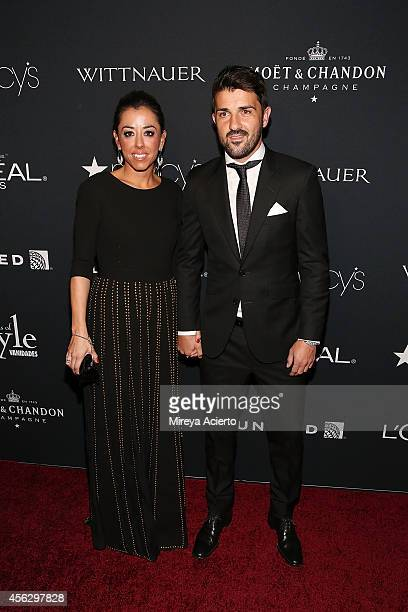 Soccer player David Villa and wife Patricia Gonzalez attend 2014 Icons Of Style Gala Hosted By Vanidades at Mandarin Oriental Hotel on September 18...