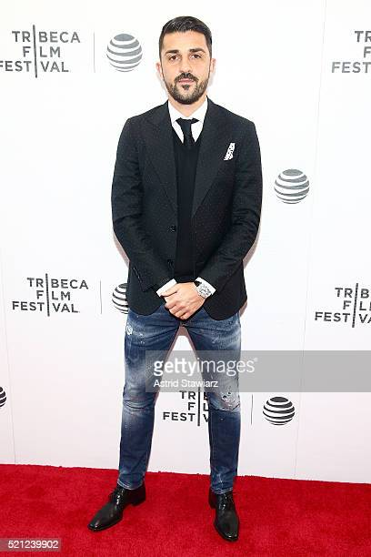 """Soccer Player David Villa attends the """"Win!"""" Premiere during 2016 Tribeca Film Festival at Regal Battery Park Cinemas on April 14, 2016 in New York..."""