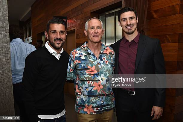 Soccer player David Villa of NYC Football Club for MISSION Athlete, CEO of Cocona/37.5 Jeff Bowman and Hockey player Chris Krieder of the NY Rangers...