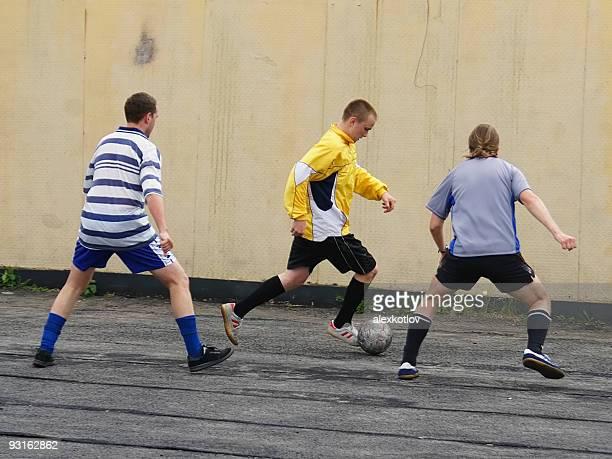 Fußballspieler Dribbeln
