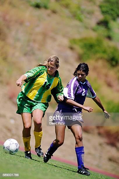 Soccer Player Evading Opponent