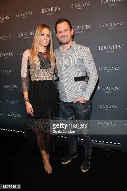 Soccer player FC Bayen goalkeeper coach Toni Tapalovic and his wife Martina Tapalovic during the grand opening of Roomers IZAKAYA on October 12 2017...