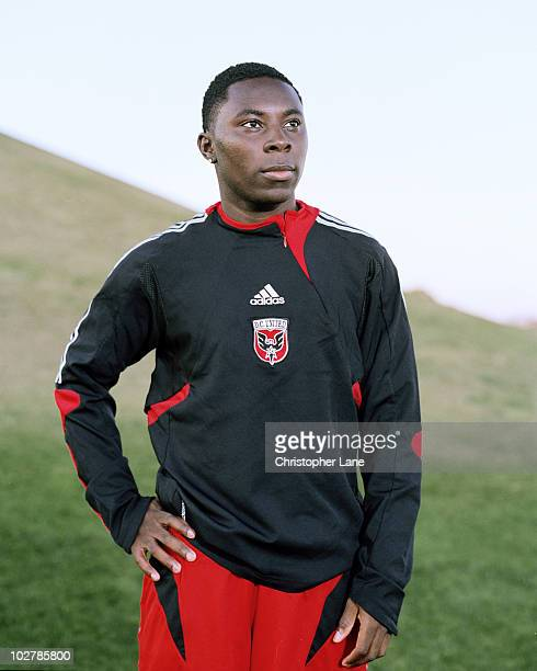 Soccer player Freddie Adu poses at a portrait session for Der Spiegel Magazine in 2006 in Tampa, Florida for the March, 2006 issue.