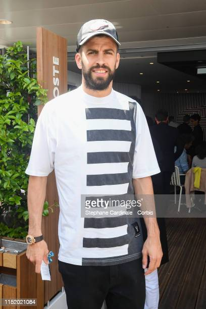 Soccer Player Gerard Pique attends the 2019 French Tennis Open - Day Two at Roland Garros on May 27, 2019 in Paris, France.