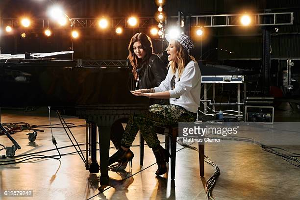 Soccer player Hope Solo and singer/songwriter Skylar Grey are photographed for ESPN Magazine The Music Issue on January 7 2014 in Los Angeles...