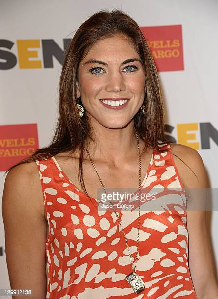 Soccer player Hope Solo attends the 7th Annual GLSEN Respect Awards at the Beverly Hills Hotel on October 21, 2011 in Beverly Hills, California.