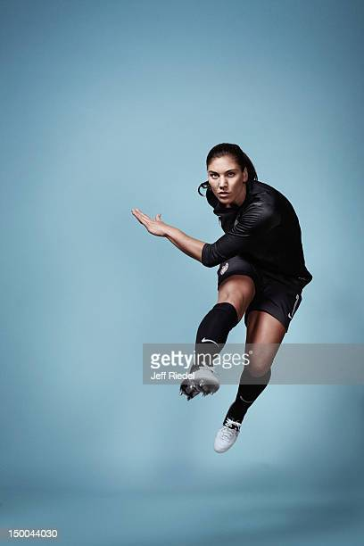 Soccer player Hope Solo is photogrpahed for Newsweek Magazine on July 7, 2012 in New York City. COVER IMAGE.