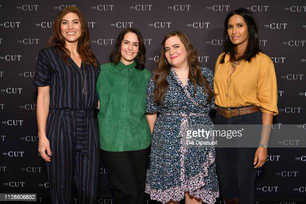 Soccer player Hope Solo president and editorinchief of New York Magazine's The Cut Stella Bugbee actress Aidy Bryant and writer Padma Lakshmi attend...