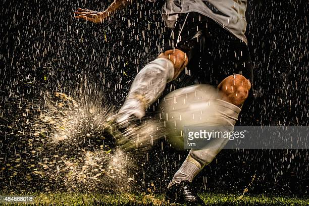 soccer player in action - cleats stock pictures, royalty-free photos & images