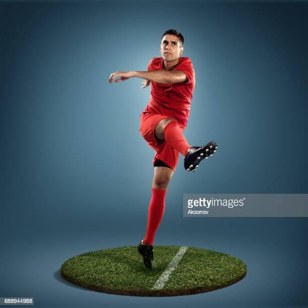 Jugador de fútbol en acción