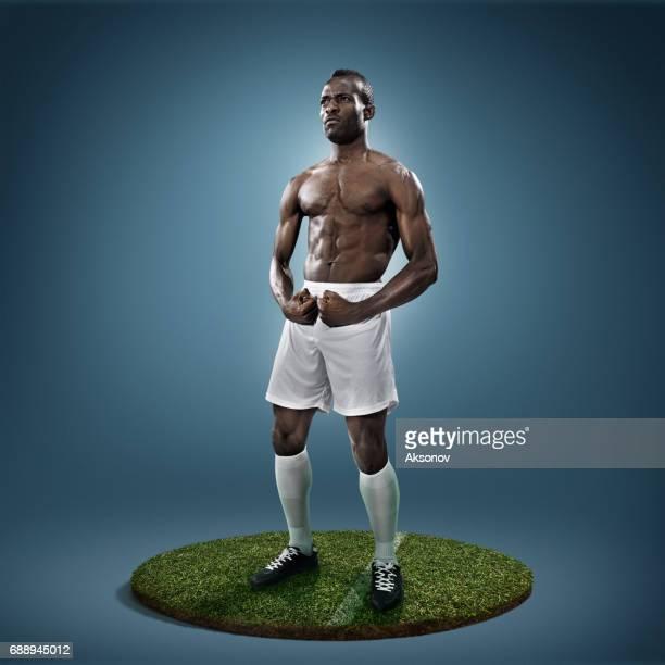 jogador de futebol em ação - camisa de futebol - fotografias e filmes do acervo
