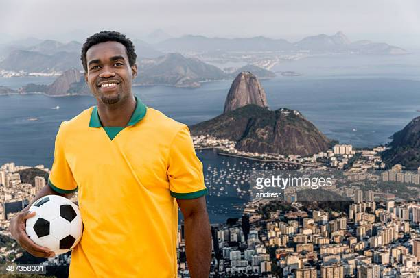 Soccer player in Rio
