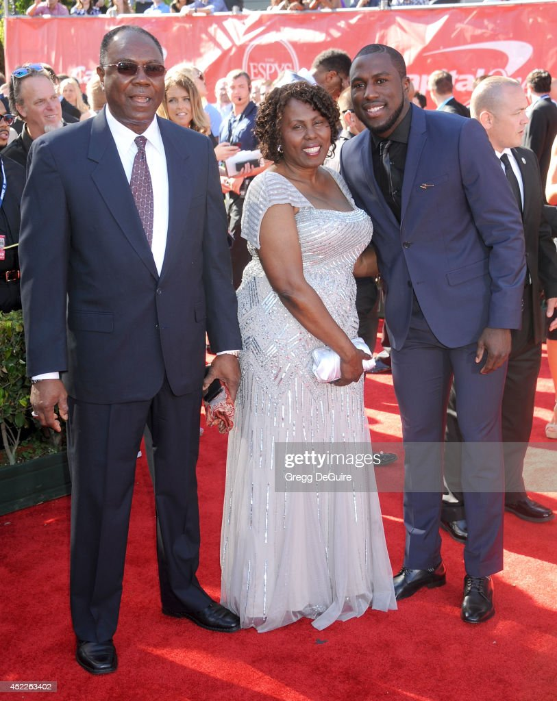 US soccer player Jozy Altidore arrives at the 2014 ESPY Awards at Nokia Theatre L.A. Live on July 16, 2014 in Los Angeles, California.