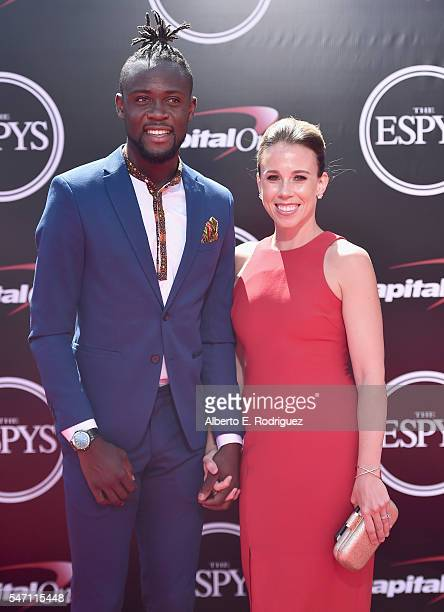 Soccer player Kei Kamara and Kristin Kamara attend the 2016 ESPYS at Microsoft Theater on July 13 2016 in Los Angeles California