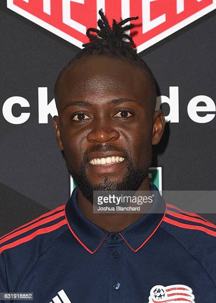 MLS soccer player Kei Kamara attends MLS Media Week Day 1 at Manhattan Beach Marriott on January 17 2017 in Manhattan Beach California