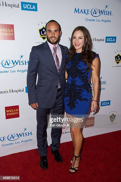 Soccer Player Landon Donovan and his girlfriend Hannah Bartell attend the MakeAWish Greater Los Angeles Wishing Well Winter Gala at the Beverly...