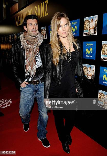 Soccer player Luis Figo and his wife model Helen Svedin attend Alejandro Sanz's concert at Compac Theater on November 25 2009 in Madrid Spain