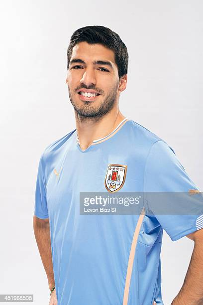 Soccer player Luis Suarez is photographed for Sports Illustrated on April 9 2014 in London England CREDIT MUST READ Levon Biss/Sports...