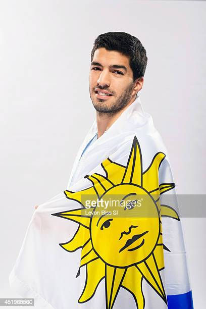 Soccer player Luis Suarez is photographed for Sports Illustrated on April 9 2014 in London England CREDIT MUST READ Levon Biss/Sports Illustrated via...
