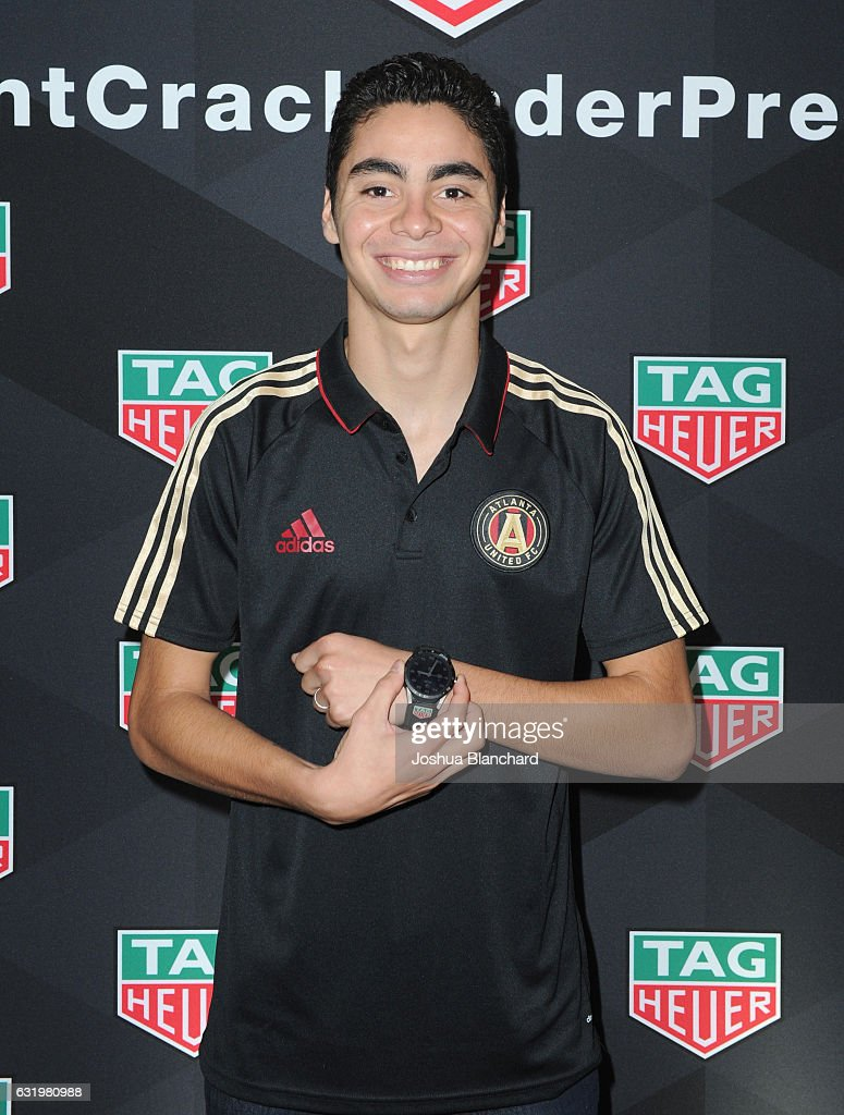 MLS soccer player Miguel Almiron attends MLS Media Week - Day 2 at Manhattan Beach Marriott on January 18, 2017 in Manhattan Beach, California.
