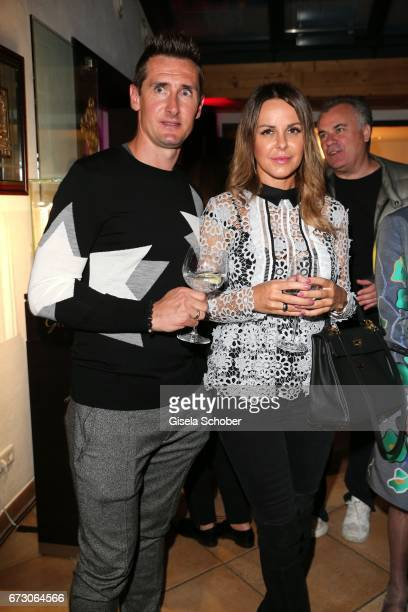Soccer player Miroslav Klose and his wife Sylwia Klose during the piano night hosted by Wempe and Glashuette Original at Gruenwalder Einkehr on April...