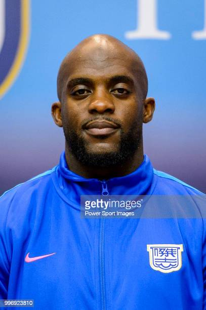 Soccer player Mohamed Sissoko during the Kitchee FC press conference on July 12 2018 in Hong Kong