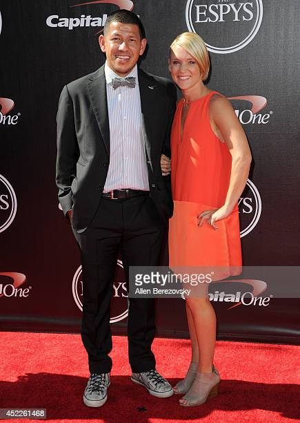 USA soccer player Nick Rimando and guest attend the 2014 ESPY Awards at Nokia Theatre LA Live on July 16 2014 in Los Angeles California