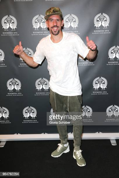 Soccer player of FC Bayern Franck Ribery during the Grand Opening of Roomers Spa by Shan Rahimkhan on May 4, 2018 in Munich, Germany.
