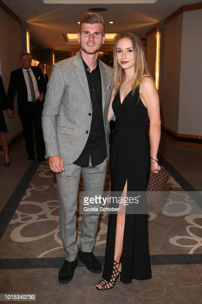 Soccer Player of RB Leipzig Timo Werner and his girlfriend Paula during the 11th GRK Golf Charity Masters reception on August 11 2018 at The Westin...