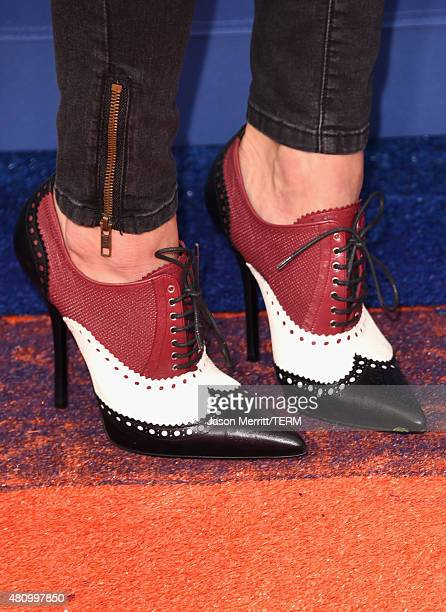 USWNT soccer player Olympian Hope Solo shoe detail attends the Nickelodeon Kids' Choice Sports Awards 2015 at UCLA's Pauley Pavilion on July 16 2015...