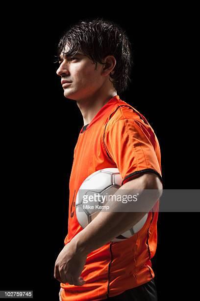 soccer player - da cintura para cima imagens e fotografias de stock