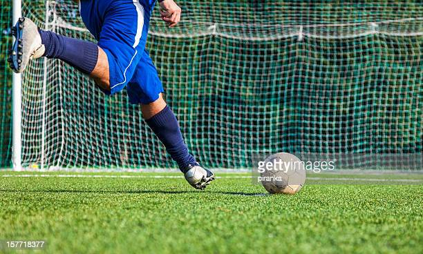 soccer player - shootout stock pictures, royalty-free photos & images