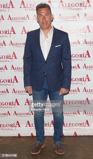 Soccer player Rafael Martin Vazquez attends Javi Cantero new album presentation at Alegoria bar on March 29 2016 in Madrid Spain