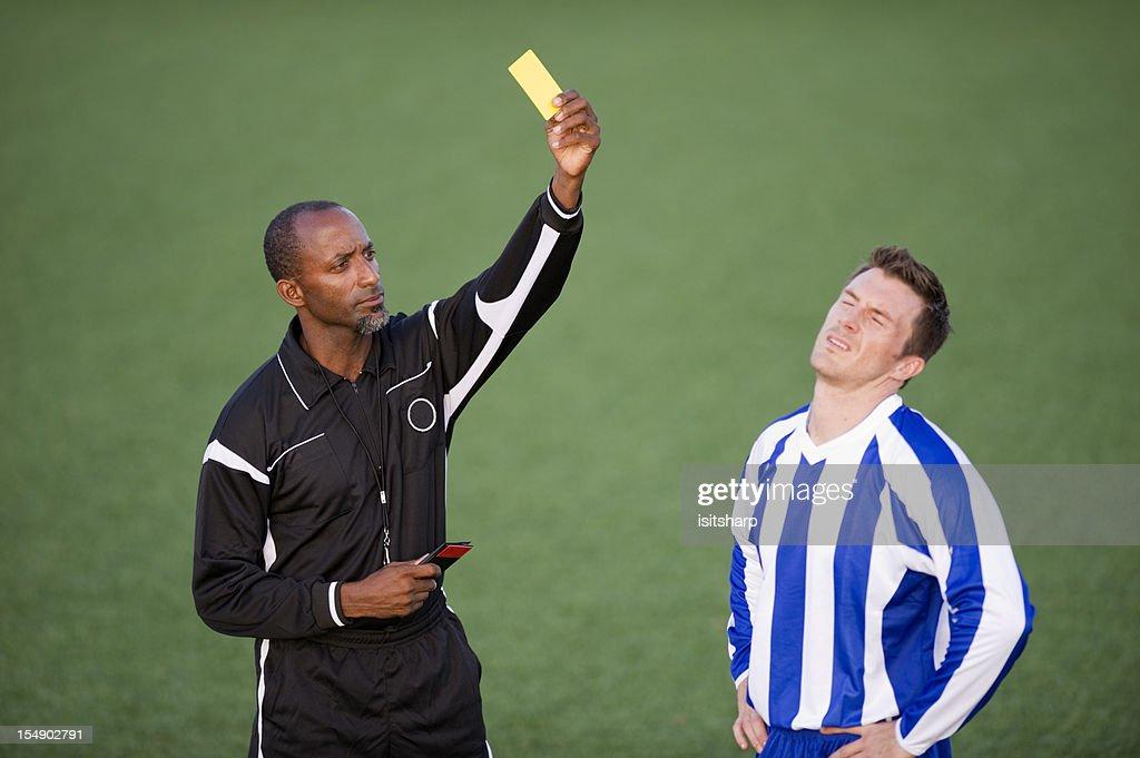 Soccer Player & Referee : Stock Photo