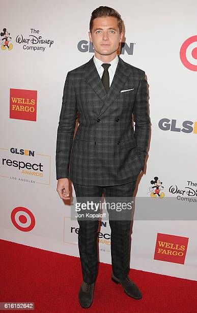 Soccer player Robbie Rogers arrives at the 2016 GLSEN Respect Awards at the Beverly Wilshire Four Seasons Hotel on October 21 2016 in Beverly Hills...