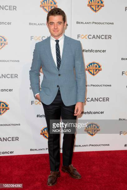 Soccer player Robbie Rogers arrives for the F*ck Cancer Gala at Warner Bros Studio in Burbank California on October 13 2018