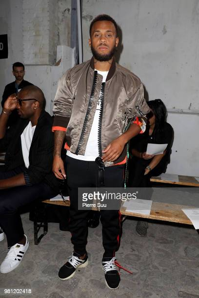 Soccer PLayer Ryan Bertrand attends the Maison Mihara Yasuhiro Menswear Spring/Summer 2019 show as part of Paris Fashion Week on June 22 2018 in...