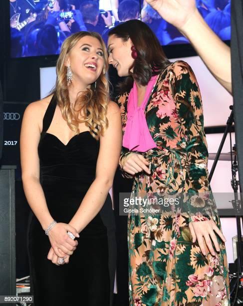 Soccer player Sami Khedira and GinaMaria Schumacher daughter of of Michael Schumacher and Lea van Acken during the Audi Generation Award 2017 at...