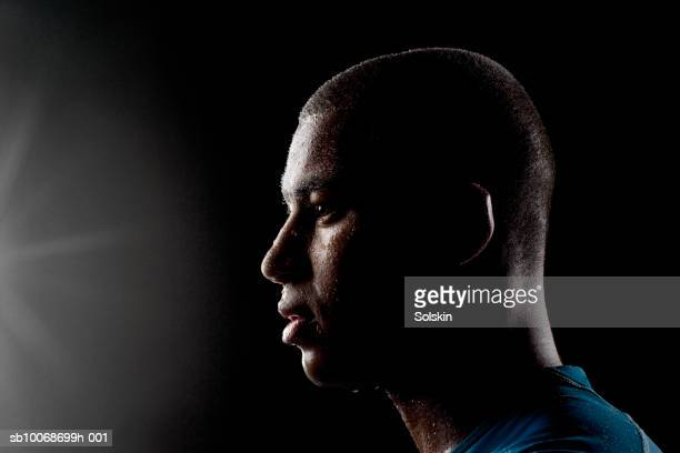 soccer player sweating, close-up - forward athlete stock pictures, royalty-free photos & images