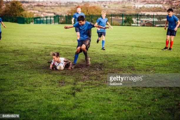 Soccer Player Tackled Down