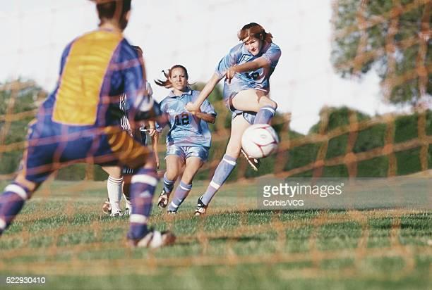 Soccer Player Taking a Free Kick