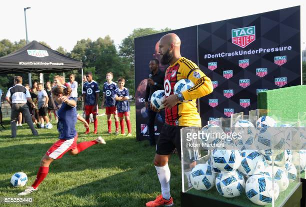 Soccer player Tim Howard attends TAG Heuer Announces New Brand Ambassador on August 1 2017 in Chicago Illinois