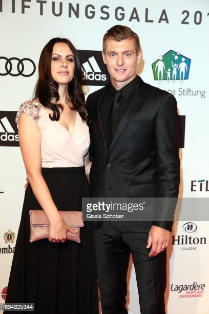Soccer player Toni Kroos and his wife Jessica Farber during the Toni Kroos charity gala benefit to the Toni Kroos Foundation at 'The Palladium' on...