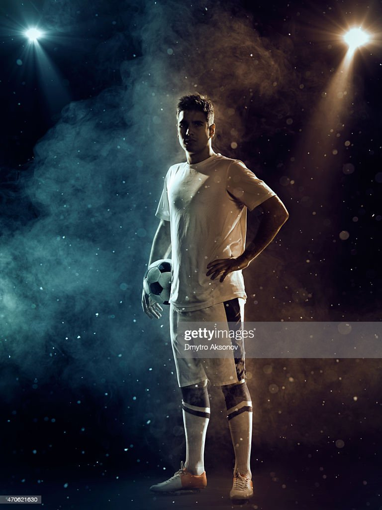 Soccer Player with ball : Stock Photo