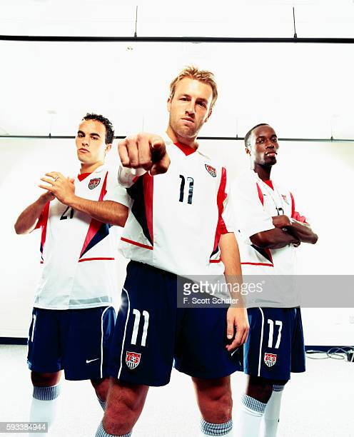 Landon Donovan Clint Mathis and DaMarcus Beasley are photographed for ESPN The Magazine in 2002