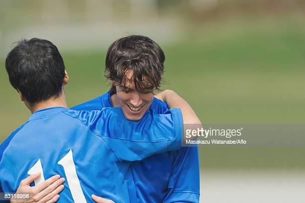 Soccer Players Celebrating