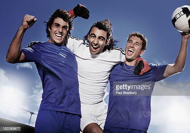 サッカー選手の喜び