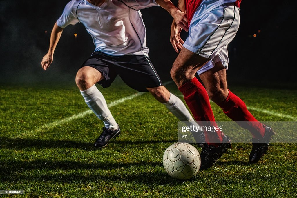 Soccer Players in Action : Stock Photo