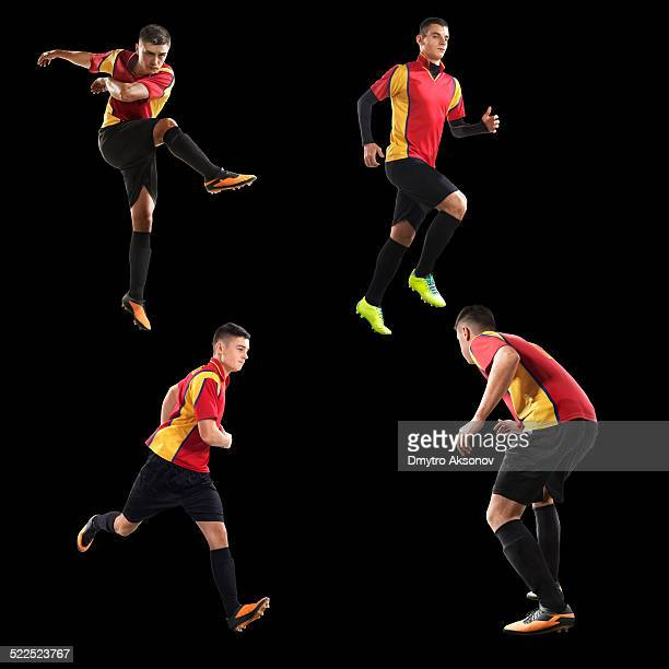 Soccer players isolated pack